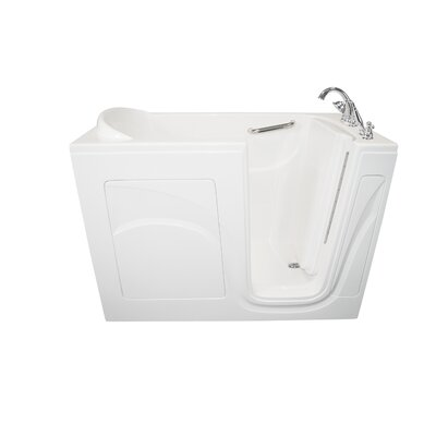 """Navigator 54"""" x 30"""" Air Jetted Walk-In Bathtub Finish: White, Drain Location: Right Side"""