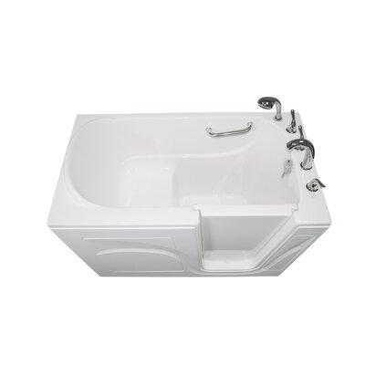 "Navigator 54"" x 30"" Soaking Walk-In Bathtub Finish: White, Drain Location: Right Side"