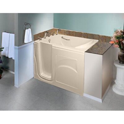 """Navigator 54"""" x 30"""" Whirlpool Jetted Walk-In Bathtub Finish: Biscuit, Drain Location: Left Side"""