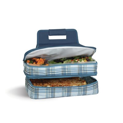 Arturo Plaid Entertainer Hot and Cold Specialty Food Storage