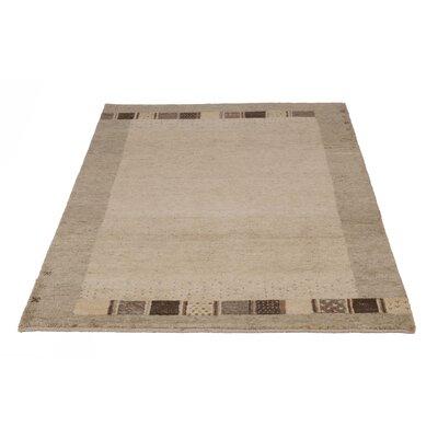 Parwis Handgeknüpfter Teppich Indo Gabbeh Bargi in Braun