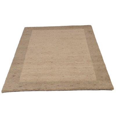 Parwis Handgeknüpfter Teppich Indo Gabbeh Daria in Camel