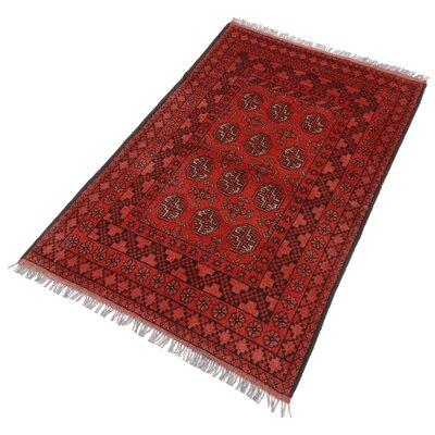 Parwis Handgefertigter Teppich Afghan Bouchara in Bordeaux