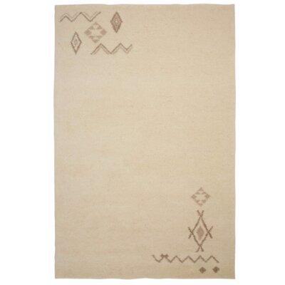 Parwis Handgeknüpfter Teppich Berber Safi in Creme