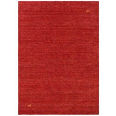 Parwis Handgefertigter Teppich Gabbeh Supreme in Rot