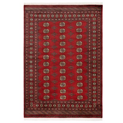Parwis Handgeknüpfter Teppich Pakistan Omara Royal in Rot