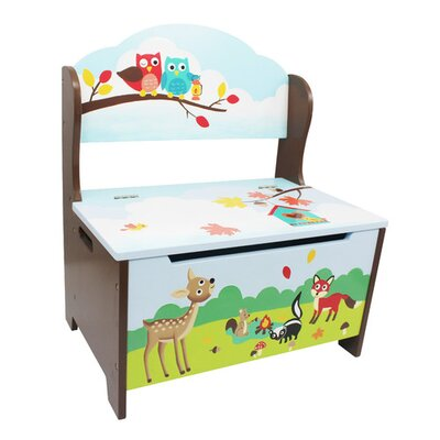 Fantasy Fields by Teamson Enchanted Woodland Wood Storage Bedroom bench