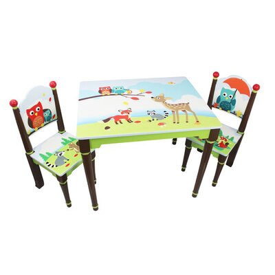 Fantasy Fields by Teamson Enchanted Woodland Children's 3 Piece Table and Chair Set