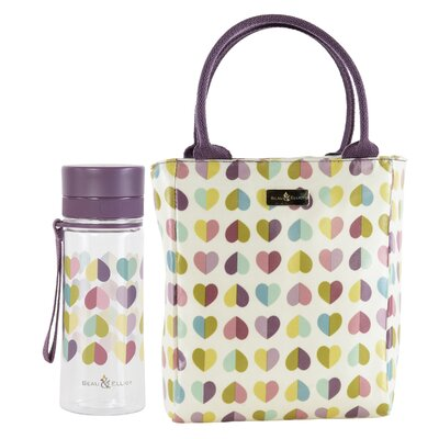 Beau & Elliot Confetti Vintage Lunch Tote and Hydration Bottle Set