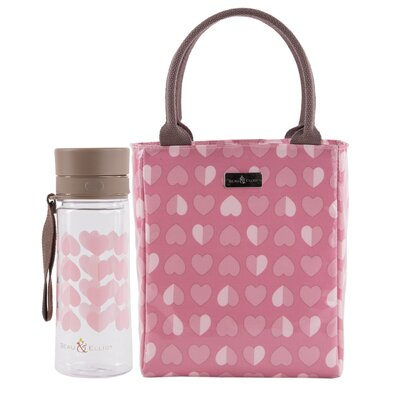 Beau & Elliot Confetti 21cm Pink Lunch Tote and Hydration Bottle