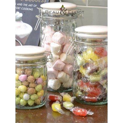 Beau & Elliot Glass Embossed Storage Jar Set