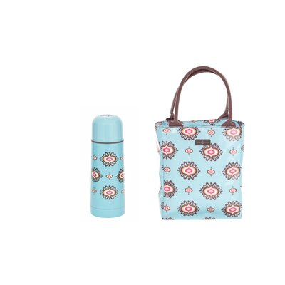 Beau & Elliot 2 Piece Filigree Flask and Insulated Lunch Tote Set