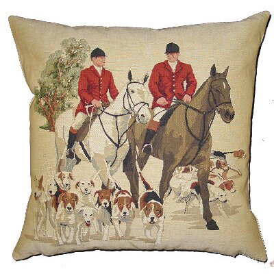 BelgianTapestries Foxhunters Cushion Cover