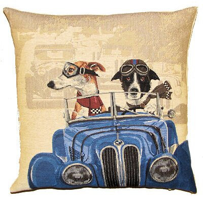 BelgianTapestries Racing Dogs Cushion Cover
