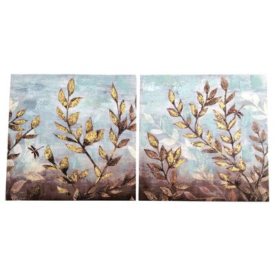Garpe Interiores 2 Piece Art Print on Canvas Set