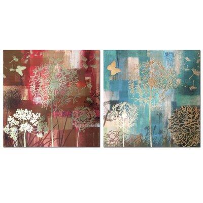 Garpe Interiores 2 Piece Art Print on Canvas Set