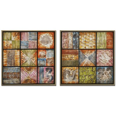Garpe Interiores 2 Piece Art Print Unwrapped on Canvas Set