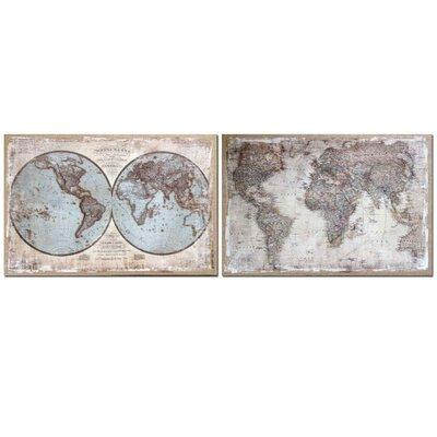Garpe Interiores 2 Piece Graphic Art on Canvas Set