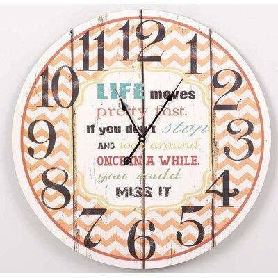Garpe Interiores 58cm Wooden Wall Clock