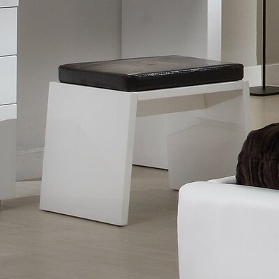 Athens Accent Stool Color: White High Gloss
