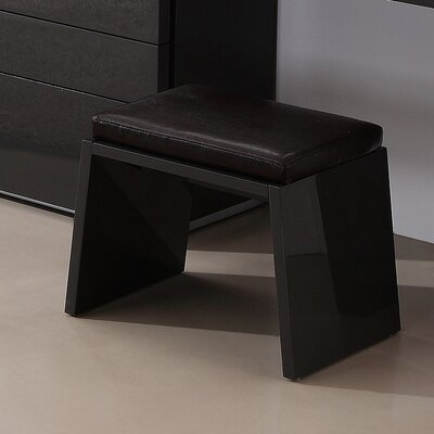 Athens Accent Stool Color: Gray High Gloss