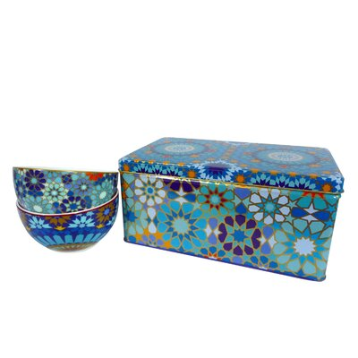 Images D'Orient UK Moucharabieh 3-Piece Tin Box and Bowl Set