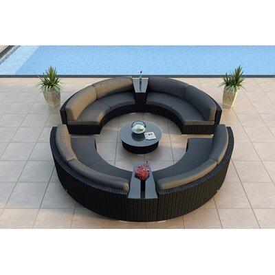 Urbana 7 Piece Sunbrella Sectional Set with Cushions Fabric: Canvas Charcoal