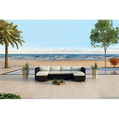 Urbana 6 Piece Sunbrella Sectional Set with Cushions Fabric: Canvas Natural