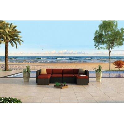 Urbana 6 Piece Sunbrella Sectional Set with Cushions Fabric: Canvas Henna