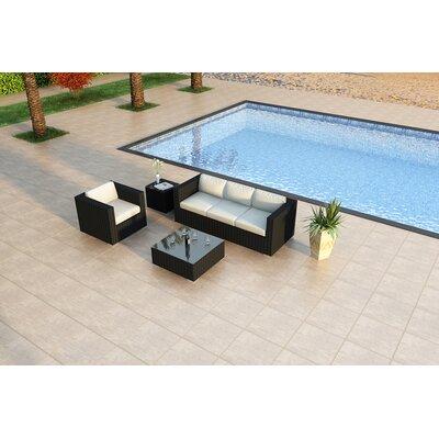 Urbana 3 Piece Sunbrella Sofa Set with Cushions Fabric: Canvas Natural