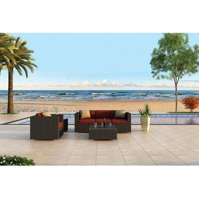 Urbana 3 Piece Sunbrella Sofa Set with Cushions Fabric: Canvas Henna