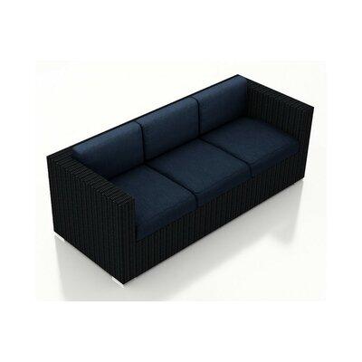 Urbana Patio Sofa with Cushions Color: Spectrum Indigo