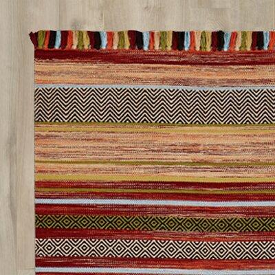 Oriental Weavers Handgewebter Teppich Kelim in Rost