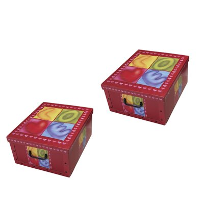 Artra 2-tlg. Aufbewahrungsboxen-Set Sweetheart Clip