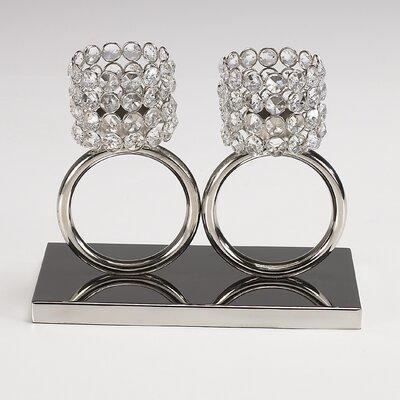 Artra Teelichthalter Louise aus Aluminium / Glaskristall
