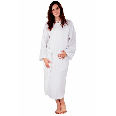 Waffle Kimono Robe Size: Large