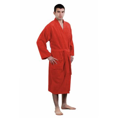 Fontaine Terry Kimono Robe Size: Adult - One Size, Color: Burgundy