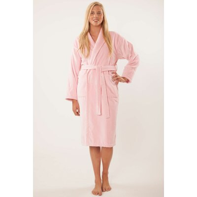 Terry Velour Shawl Robe Size: Adult - One Size, Color: Royal Blue