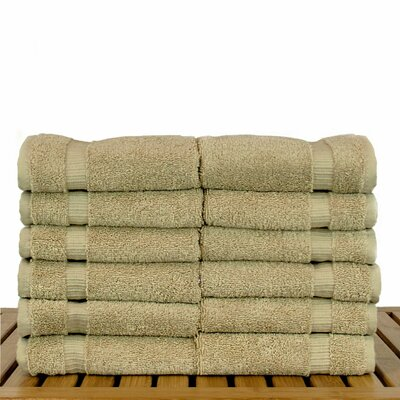 Orchid 100% Cotton Hand Towel Color: Drift Wood, Size: Washcloths - Set of 12