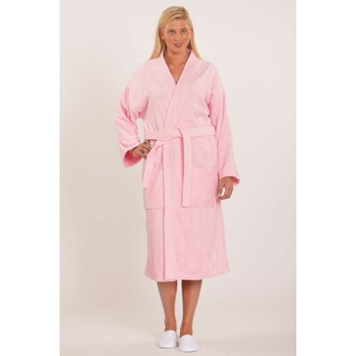 Fontaine Terry Kimono Robe Size: Adult - One Size, Color: Pink