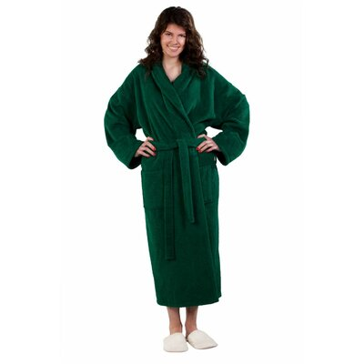 Forster Terry Shawl Robe Size: Adult - One Size, Color: Green