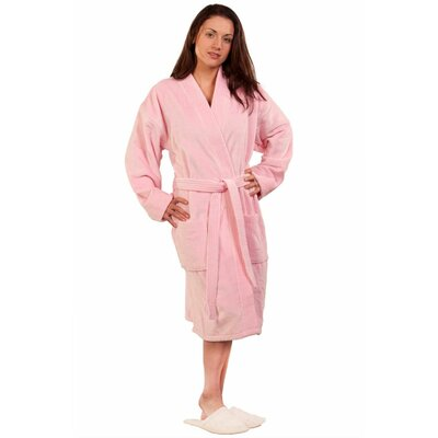 Terry Velour Kimono Robe Size: Adult - Small Medium, Color: Pink
