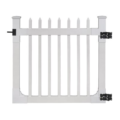 4 ft. x 4 ft. Nantucket Vinyl Picket Gate with Stainless Steel Hardware
