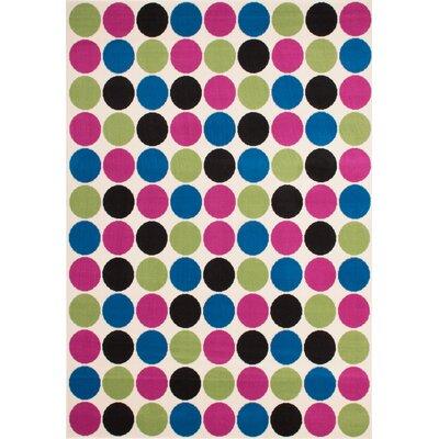 Kayoom Funky Dots Multi-Coloured Area Rug