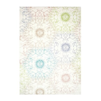 Kayoom Sorbe Crystal Multi-Coloured Area Rug