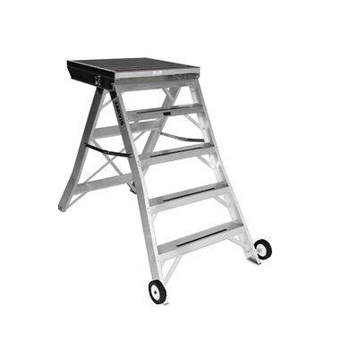 4.33 ft Aluminum Model 8 Podium Rolling Ladder with 200 lb. Load Capacity Finish: Black
