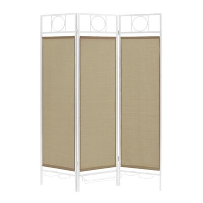3 Panel Room Divider Color: White / Sand