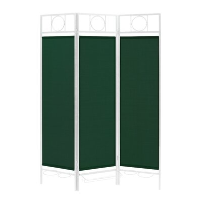 3 Panel Room Divider Color: White / Forest Green