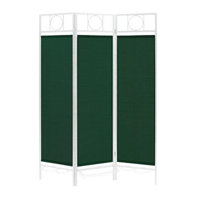 3 Panel Room Divider Color: White / Forest Green