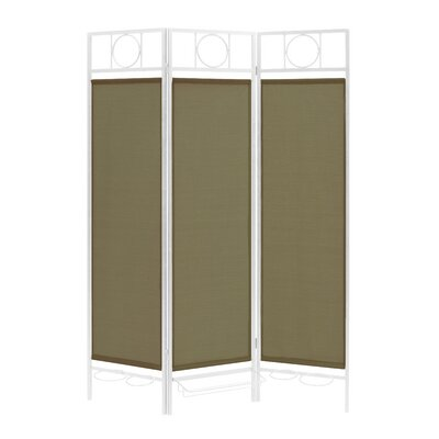 3 Panel Room Divider Color: White / Sage